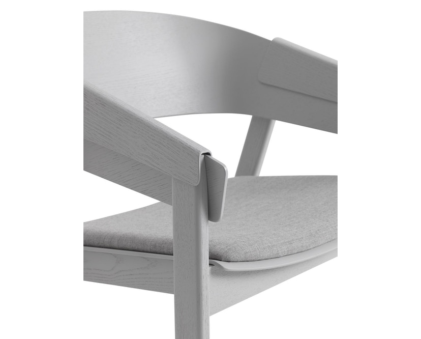 Muuto - Cover Lounge Stuhl mit Polster - Remix 123/ grau - 2