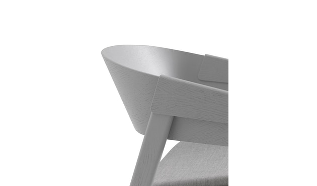 Muuto - Cover Lounge Stuhl mit Polster - Remix 123/ grau - 4