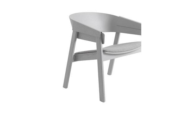 Muuto - Cover Lounge Stuhl mit Polster - Remix 123/ grau - 5
