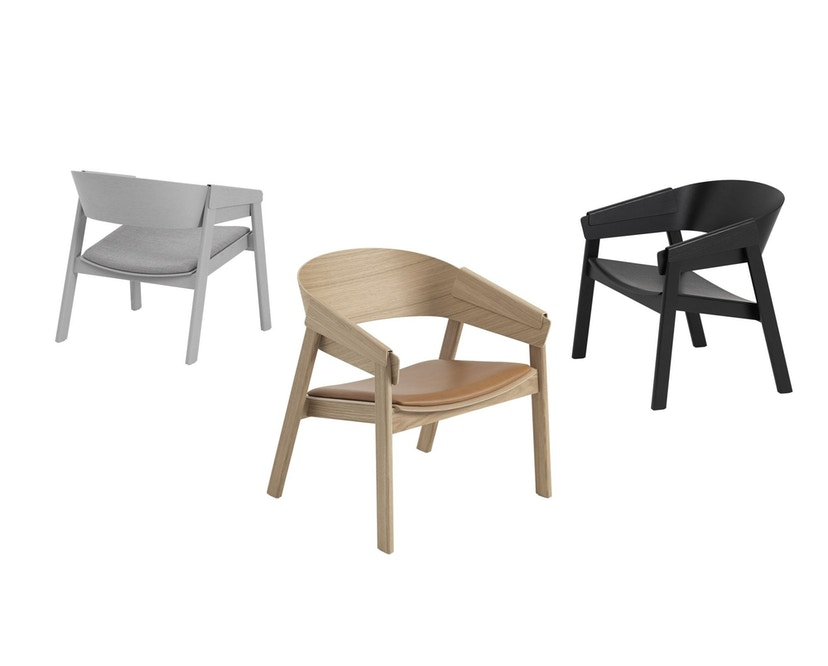 Muuto - Cover Lounge Stoel - eiken - 3