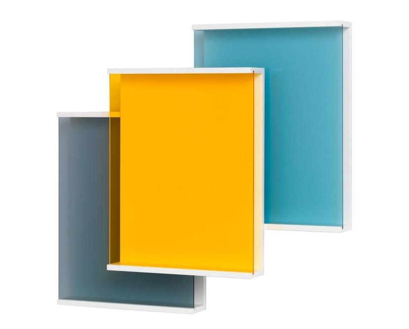 Schönbuch - Covershow Zeitschriftenregal 3er-Element - multicolor grau, hellgrau, gelb - 1