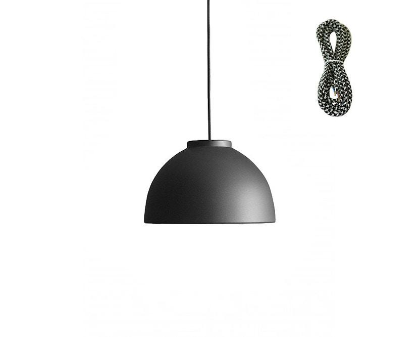 Made By Hand - Copenhagen Hängeleuchte - anthracite black - Kabelfarbe pepita - Baldachin schwarz - 1
