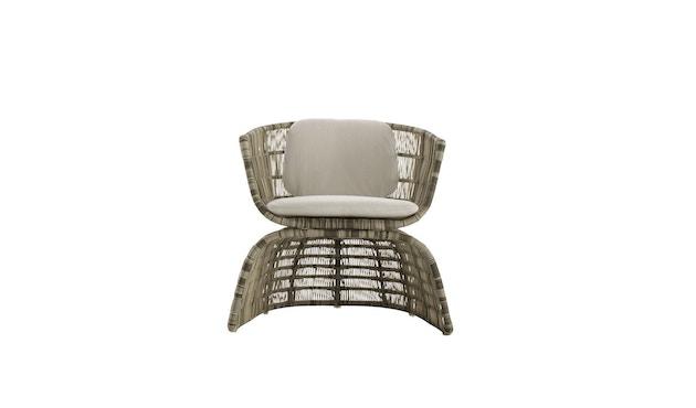 B & B Italia - Crinoline kleiner Sessel - schwarz-weißes Geflecht - Kissen schwarz - 0