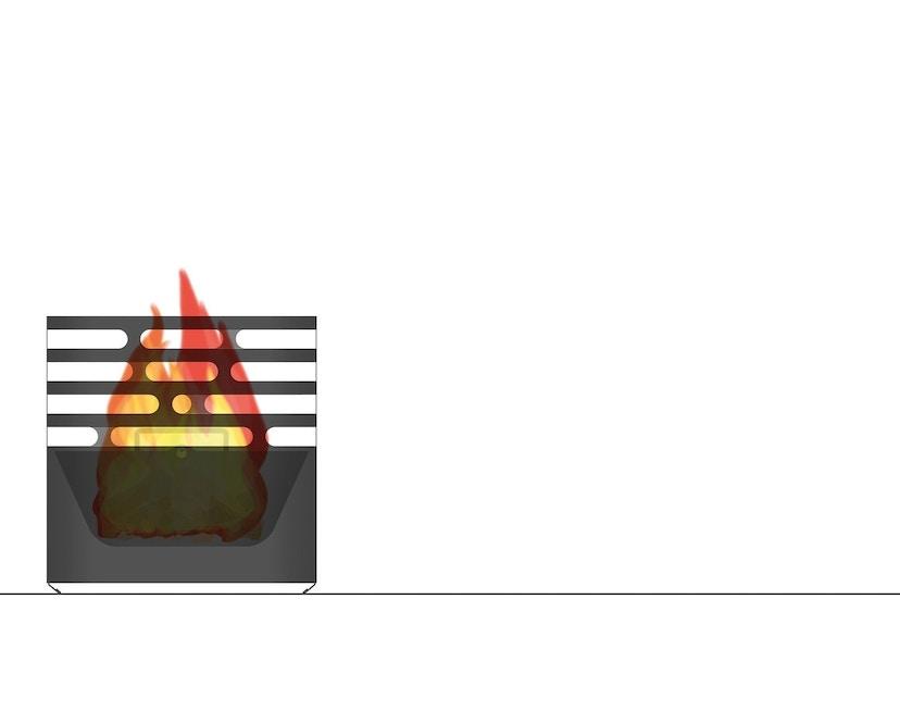 Höfats - CUBE Feuerkorb - schwarz - 25