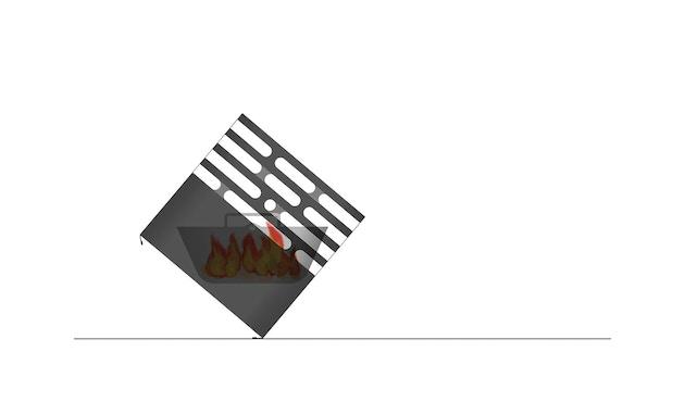 Höfats - CUBE Feuerkorb - schwarz - 26