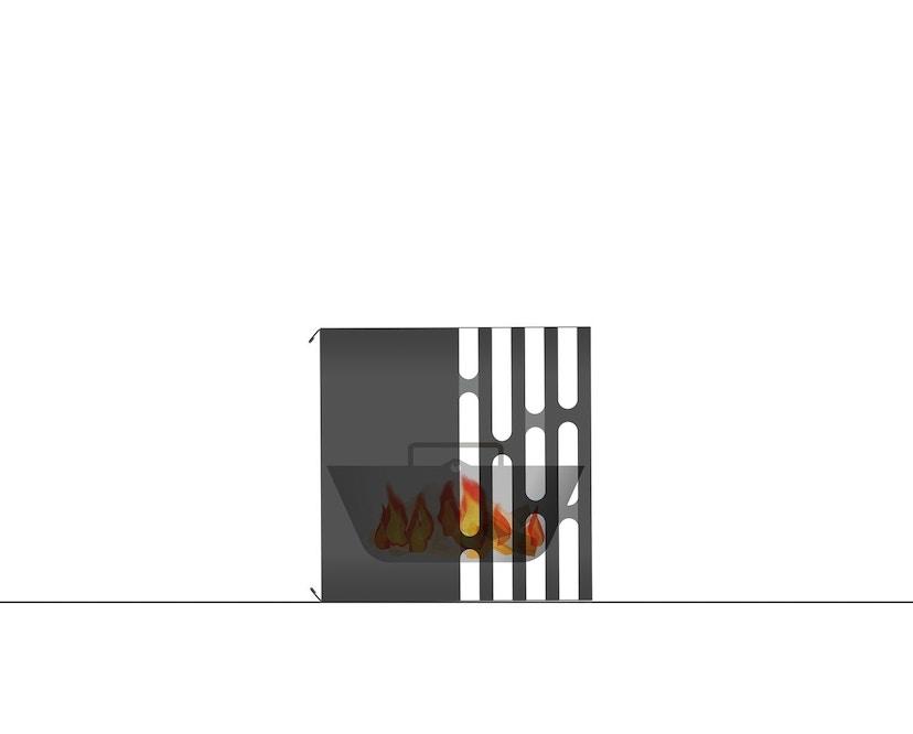 Höfats - CUBE Feuerkorb - schwarz - 38