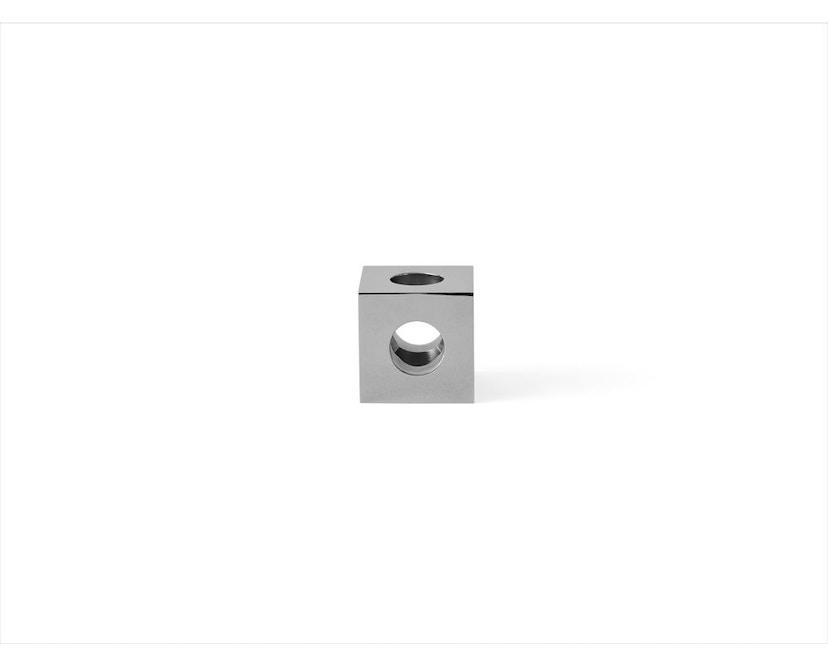 Menu - Cube kandelaar - gepolijst staal - 2