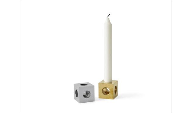Menu - Cube kandelaar - gepolijst staal - 3