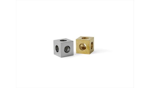Menu - Cube Kerzenständer - polierter Stahl - 4