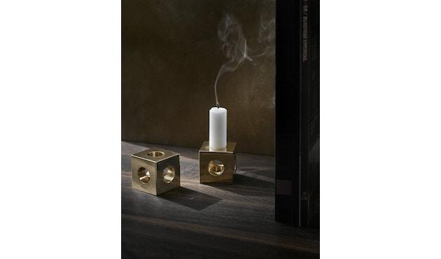 Menu - Cube Kerzenständer - polierter Stahl - 5