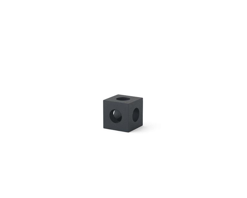 Menu - Cube Kerzenständer - schwarz - 1