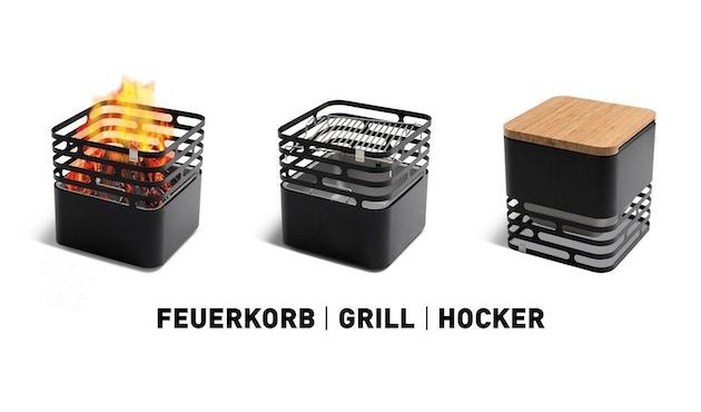 Höfats - CUBE Feuerkorb / Grill / Hocker / Beistelltisch - 3