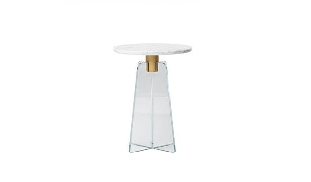 Million - Cupola Beistelltisch - weißer Marmor - klares Glas - 1