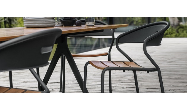 Gloster - Curve Stuhl - Sitz Aluminium - weiss - 4
