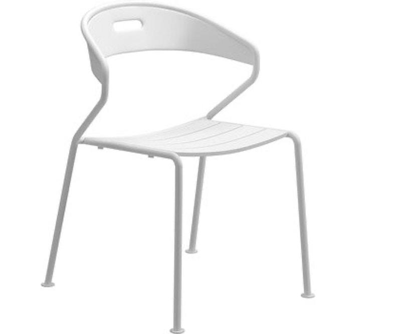 Gloster - Curve Stuhl - Sitz Aluminium - weiss - 1