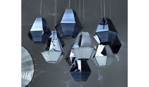 Tom Dixon - Cut Pendelleuchte - hoch - chrom - 4