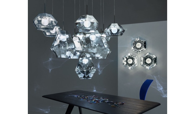 Tom Dixon - Cut Pendelleuchte - hoch - chrom - 7