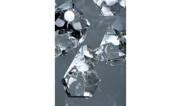 Tom Dixon - Cut Pendelleuchte - hoch - chrom - 9