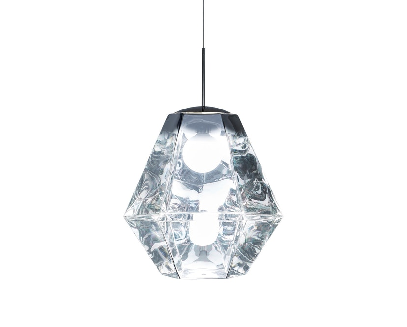 Tom Dixon - Cut Pendelleuchte - hoch - chrom - 1