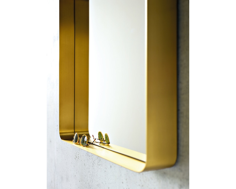 Classicon - Cypris Spiegel - Messing, Kristallglas - 70 x 70 cm - 3