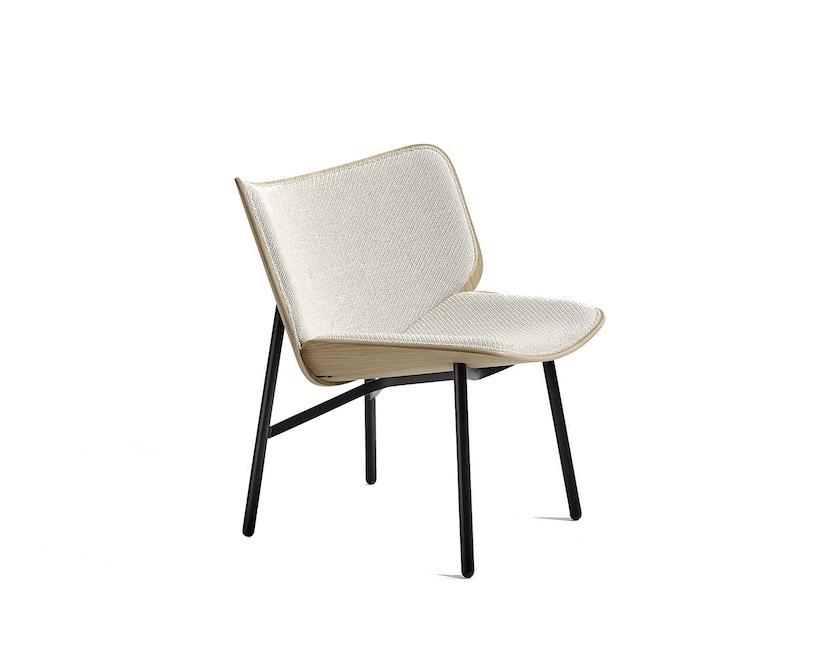 HAY - Dapper Sessel - weiß - Gestell schwarz - Eiche matt lackiert - 1