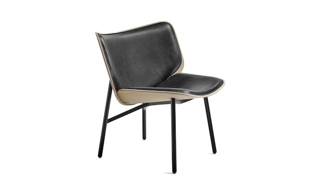 HAY - Dapper Sessel - schwarz - Gestell schwarz - Eiche matt lackiert - 1