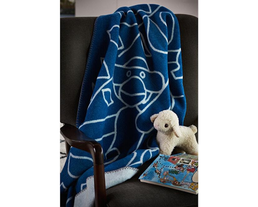 Kay Bojesen - Decke mit Affe - blau - 5