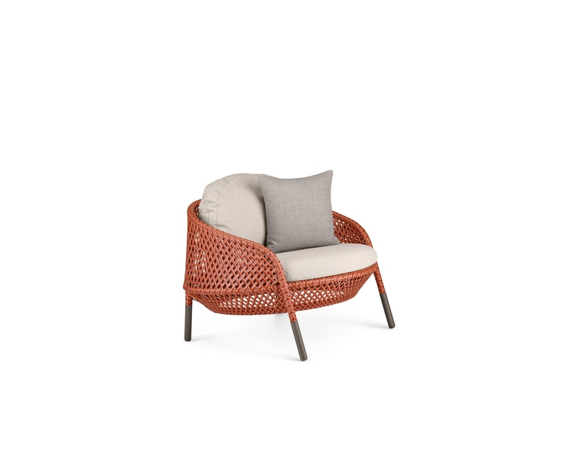 Dedon - Ahnda Lounge Chair rot - OHNE Kissen - 1