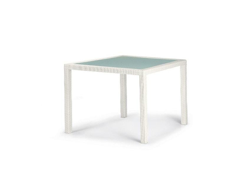 Dedon - Barcelona Tisch - 100x100 - chalk - inkl. Glasplatte - 3