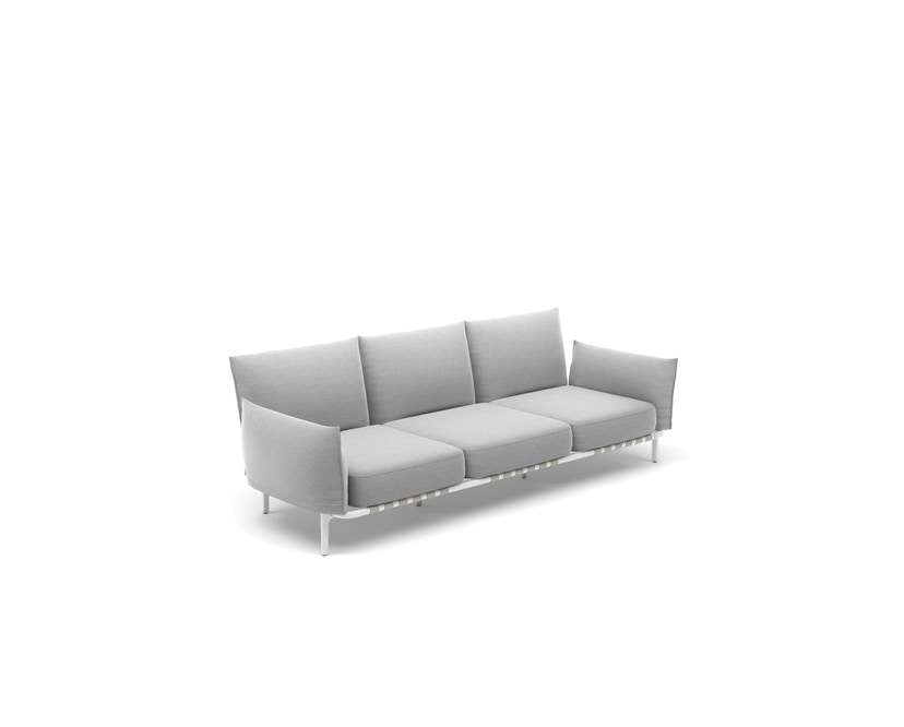 Dedon - Brea 3-Seater, Cool taupe - white - 3