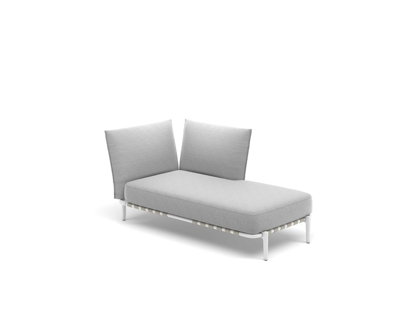 Dedon - Brea Daybed links, Cool taupe - white - 1
