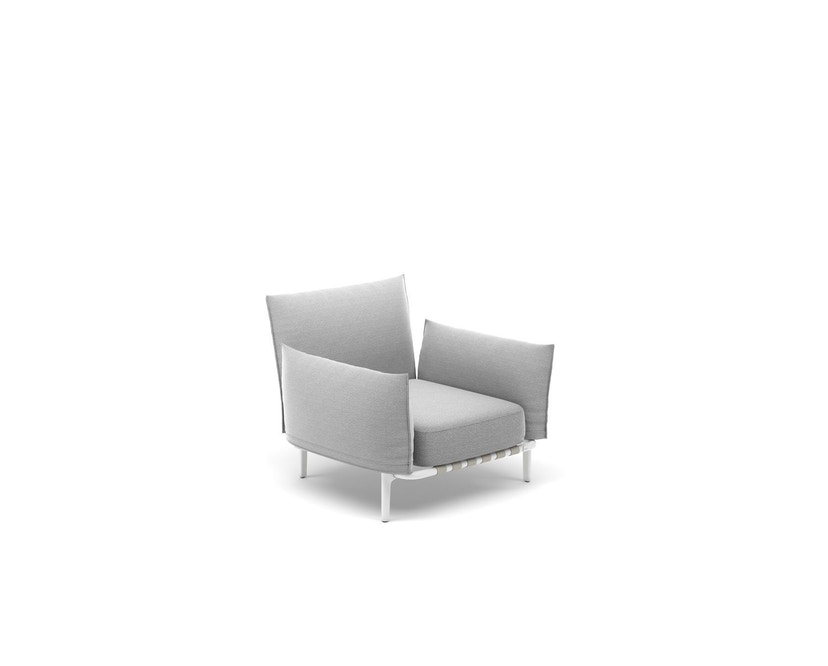 Dedon - Brea Lounge Chair, Cool taupe - white - 3