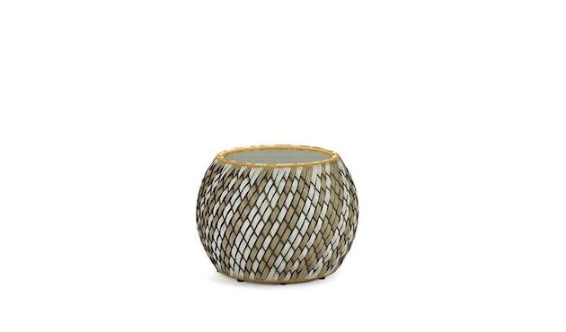 Dedon - Dala kruk M - bijzettafel - glazen dienblad - stone - 1