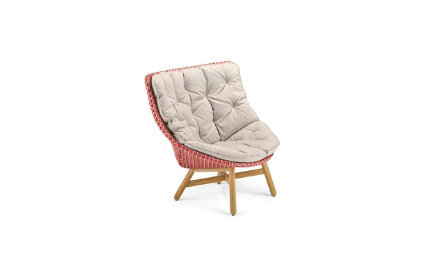 Dedon - Mbrace Wing Chair Hochlehner - rot - OHNE Polsterauflage - 1