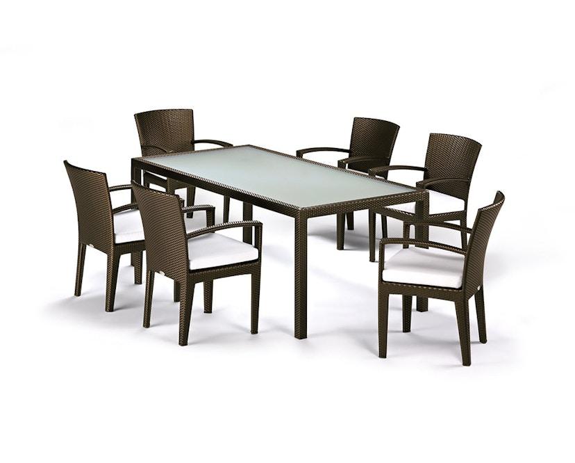 Dedon - Panama Lounge stoel - brons - 6