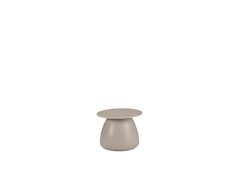 Dedon - Porcini Beistelltisch Ø 51 x Höhe 40 cm, Keramik Base - 308 Taupe - 1