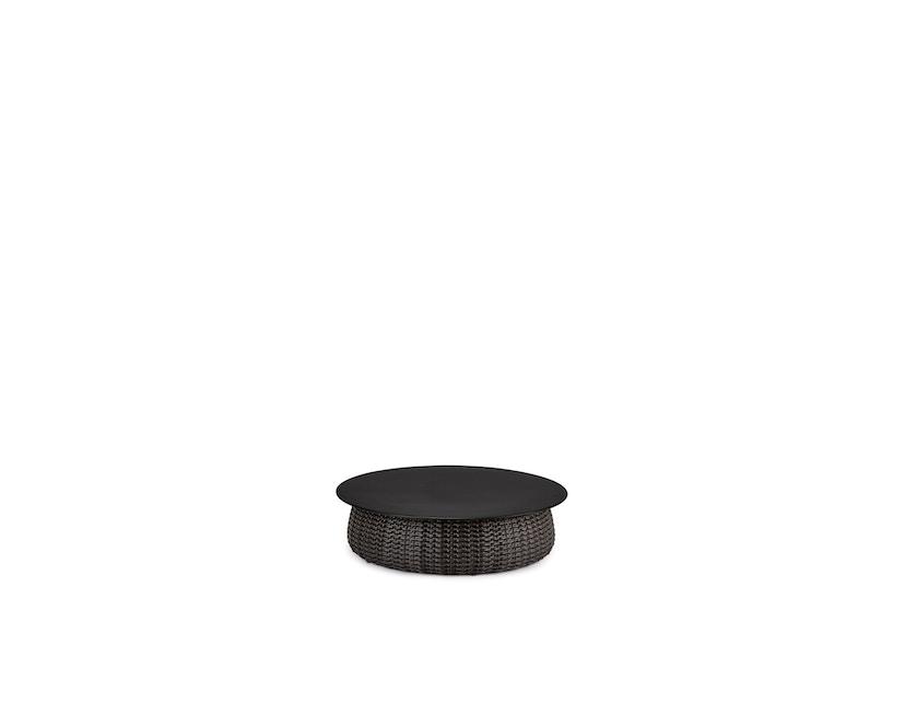 Dedon - Porcini Kaffeetisch Ø 100 cm, geflochtene Base - 116 Marrone - 1