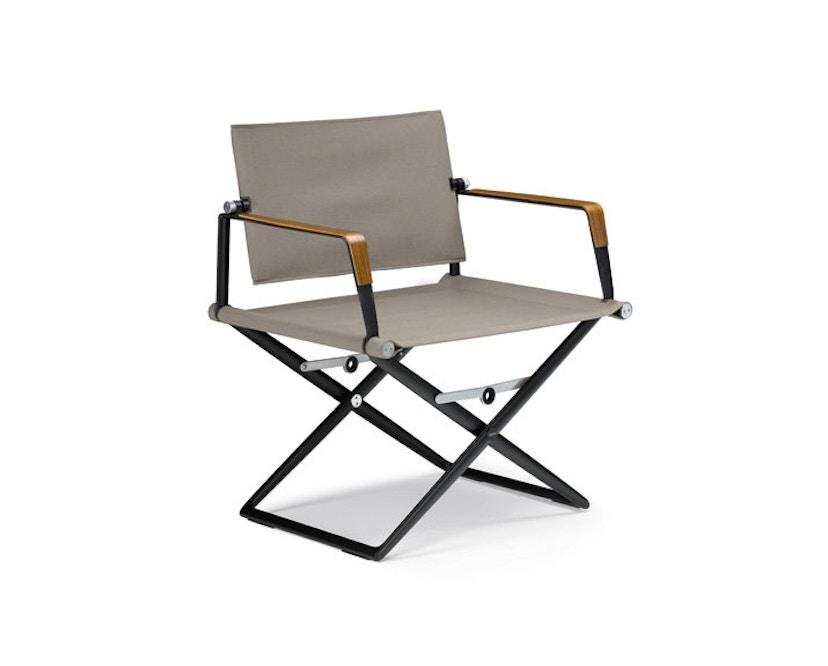 Dedon - SeaX Lounge Chair - schwarz - sail taupe - 1