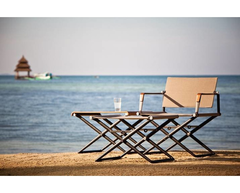 Dedon - SeaX Lounge Chair - schwarz - sail taupe - 3