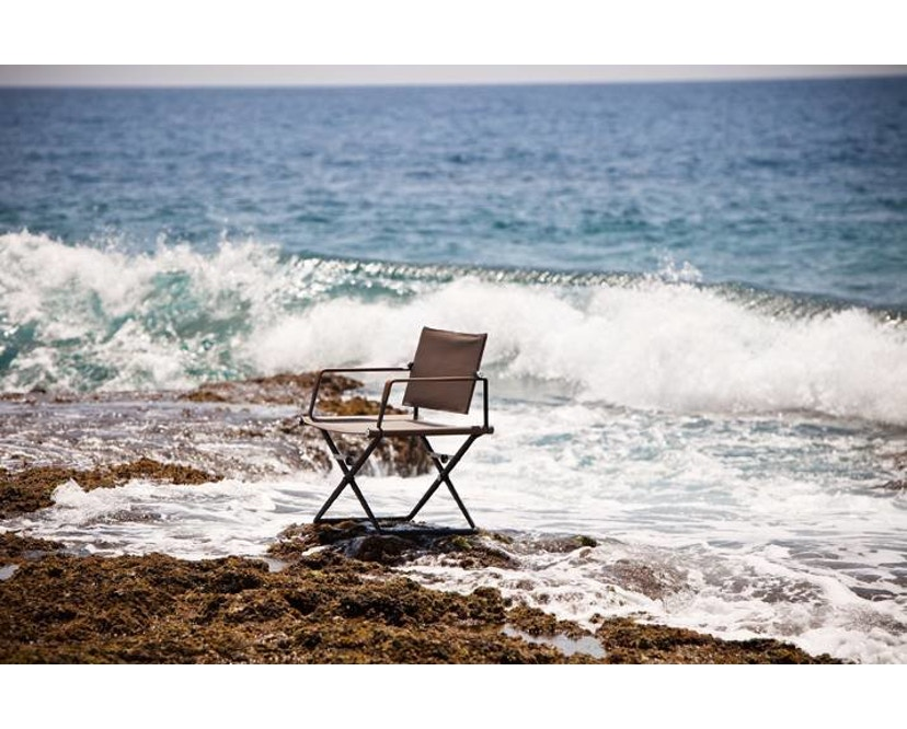 Dedon - SeaX Lounge Chair - schwarz - sail taupe - 4