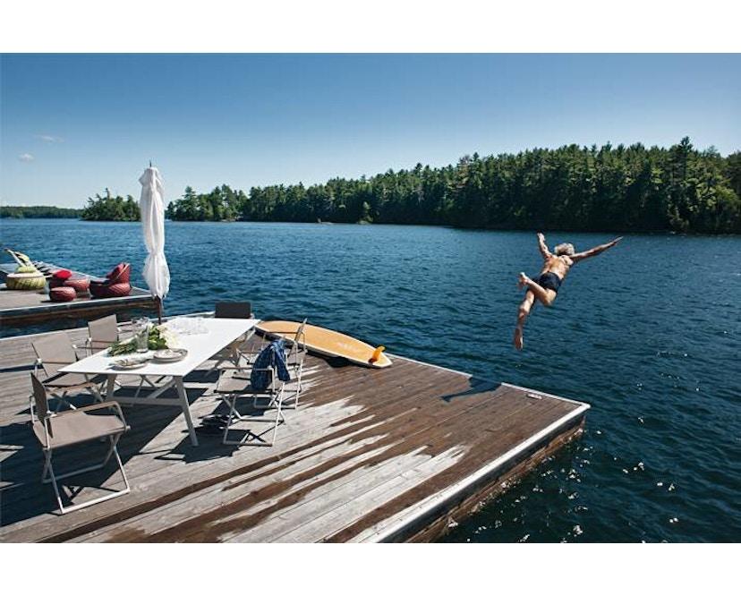 Dedon - SeaX Lounge Chair - schwarz - sail taupe - 5