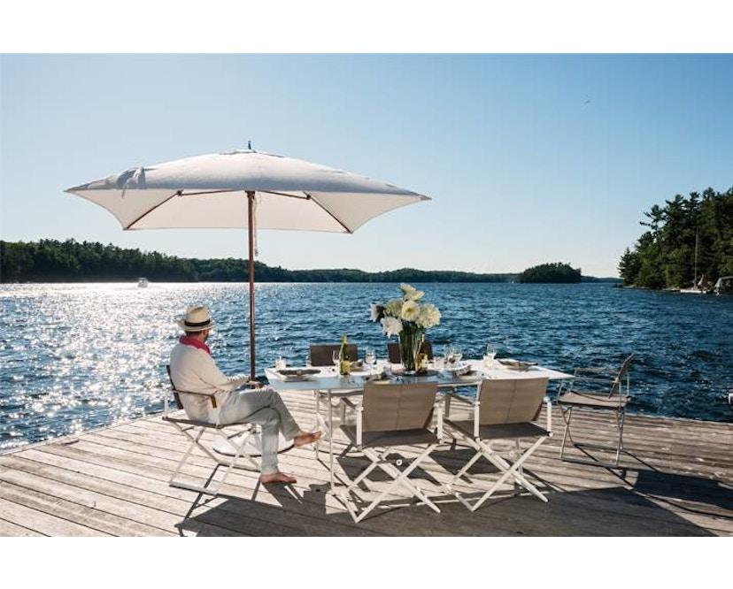 Dedon - SeaX Lounge Chair - schwarz - sail taupe - 6