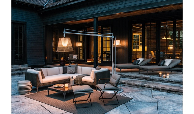 Dedon - SeaX Lounge Chair - schwarz - sail taupe - 7