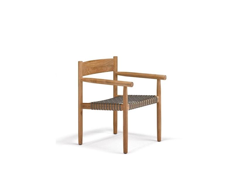 Dedon - Tibbo Armlehnstuhl - schwarzes Sitzgeflecht - 1
