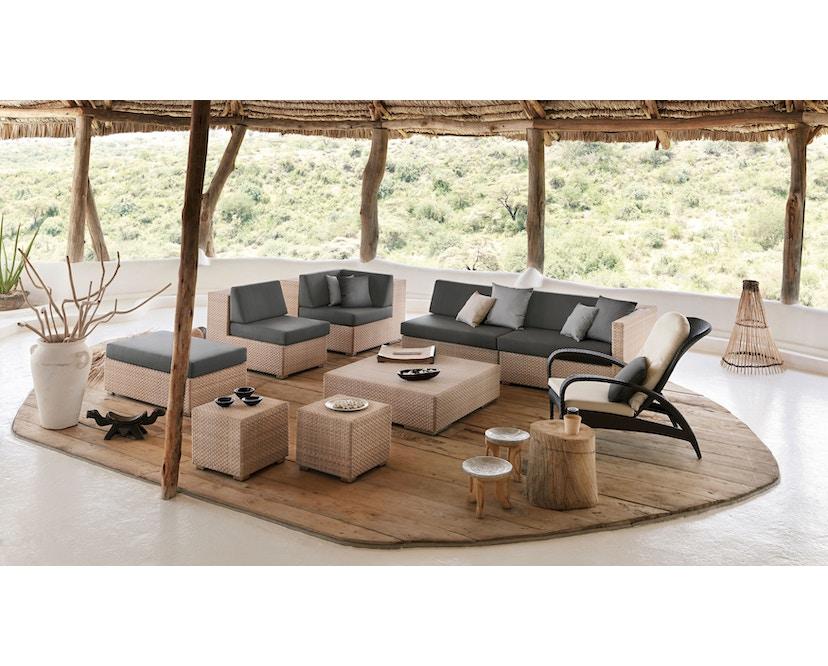 Dedon - Lounge kruk - M - java - donkerbruin - zonder zitkussen - 2