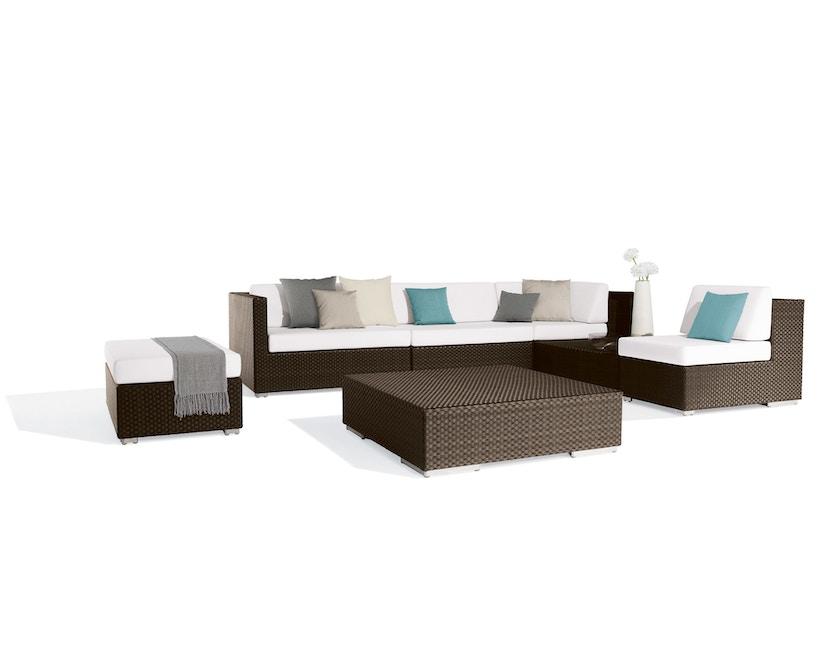 Dedon - Lounge kruk - M - java - donkerbruin - zonder zitkussen - 3