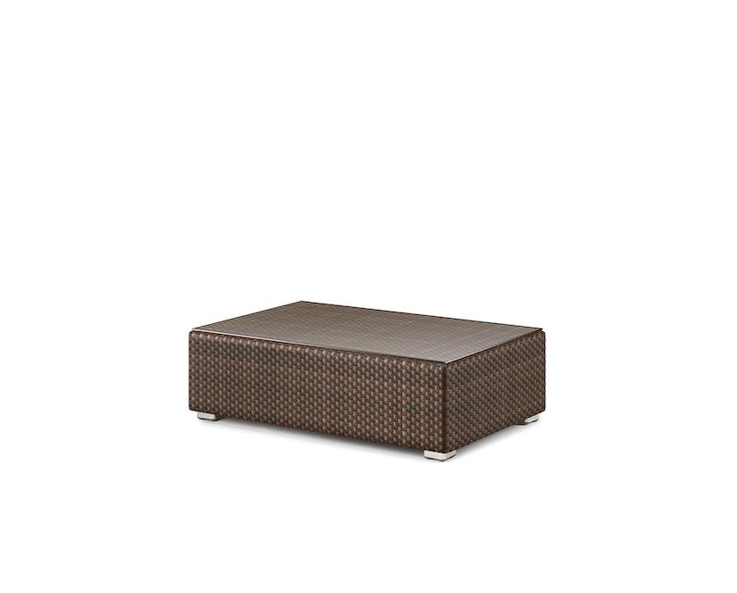 Dedon - Lounge kruk - M - java - donkerbruin - zonder zitkussen - 1