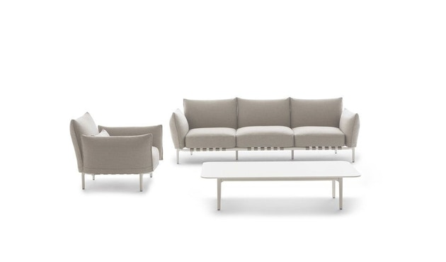 Dedon - Brea 3-Seater, Cool taupe - white - 1