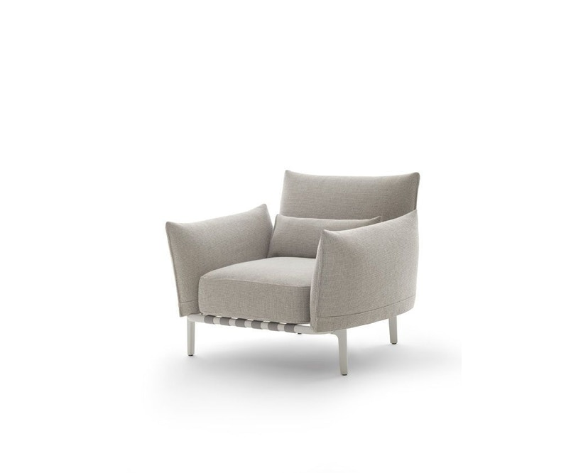 Dedon - Brea Lounge Chair, Cool taupe - white - 1
