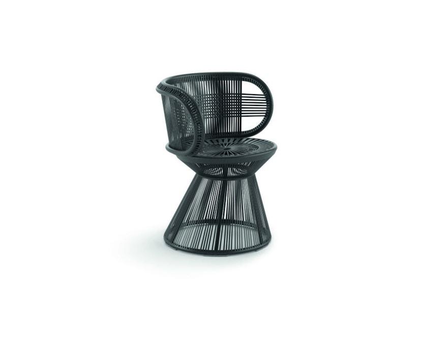 Dedon - Cirql Armchair, pied socle - sans coussin d'assise - onyx/carbon - 2